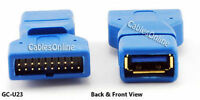 Usb 3.0 A Female To 20-pin Box Header Male Adapter, Gold Plated - Gc-u23