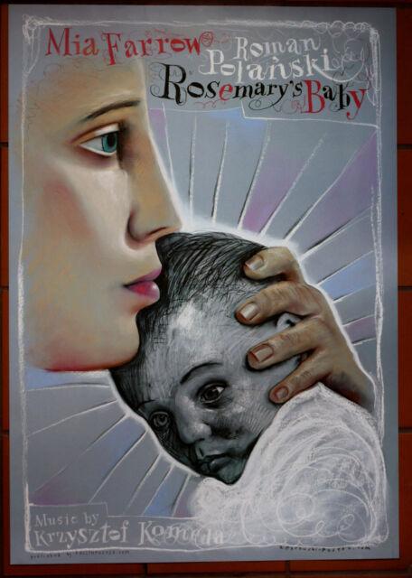 Rosemary's Baby - Polanski - Mia Farrow - Polish Poster - Zebrowski