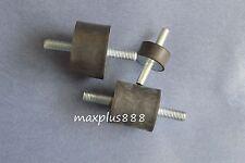 2pcs M10 Male Thread 40*40mm Rubber Anti Vibration Shock Pad double screw