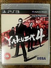 **FASTFREE SHIP** FACTORY SEALED Yakuza 4 (PS3, Region Free,) Brand New