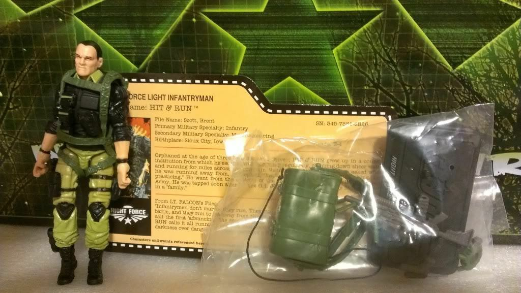 GI Joe Convention 2013 JoeCon Nocturnal Fire Night Force Hit & Run LOOSE
