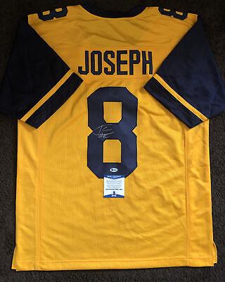 Karl Joseph Signed Autographed West Virginia Custom Jersey BECKETT BAS COA 4 | eBay
