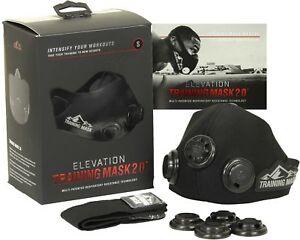 Elevation Training Mask 2.0 Blackout Edition-toutes Tailles-augmentation Lung Force-afficher Le Titre D'origine