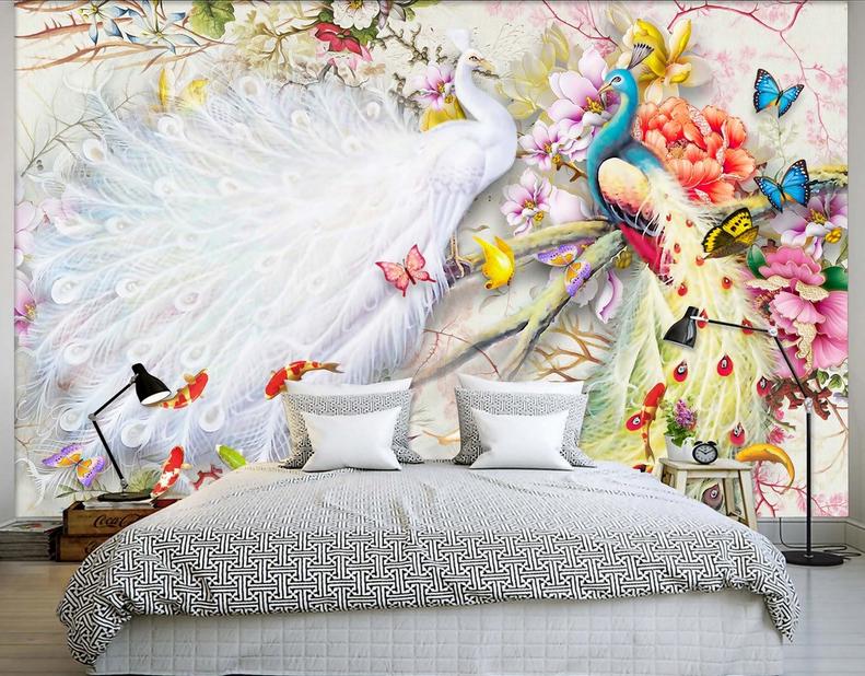 3D Hübscher Pfau Fisch 976 Tapete Wandgemälde Tapete Tapete Tapete Tapeten Bild Familie DE | Economy  | Verschiedene Waren  | Hohe Qualität Und Geringen Overhead  426d2b