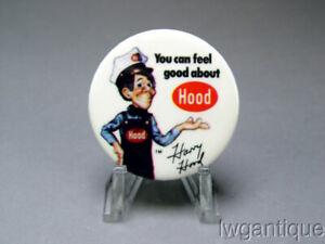 Vintage 1970's HARRY HOOD Hood Milk Dairy PHISH Advertising Pin Button *BEST*