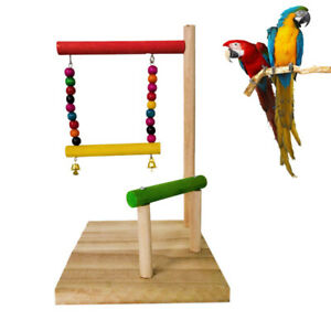 Parrot-Ladder-Pet-Bird-Wooden-Playground-Climbing-Swing-Chew-Budgie-Cage-Toys