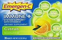 2 Pack Emergen-c Immune Plus System Support With Vitamin D Citrus 30 Packets Ea on sale