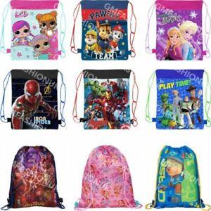 CHILDRENS GIRLS BOYS SCHOOL PE GYM SHOE SPORTS BAG BACKPACK SWIM DRAWSTRING
