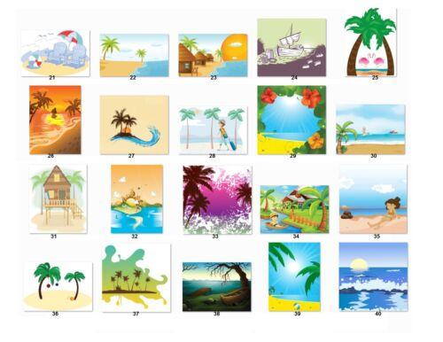 Be2 30 Personalized Return Address Labels Beaches.Buy 3 get 1 free