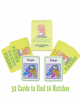 Baby Shower Mum to Be Fun Memory Game Party Accessory PAIRS with 32 Cards