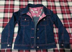 lotto-377-giacca-giacchetto-jeans-bimba-bambina-5A-princess-by-hello-kitty