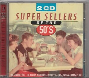 SUPER-SELLERS-OF-THE-50-039-S-2-CD-Everly-Brothers-Anday-Williams-Ritchie-Valens-etc
