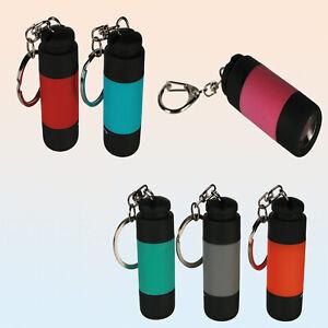 Schlüsselanhänger Taschenlampe Bunt Farbwahl sehr Hell LED ...