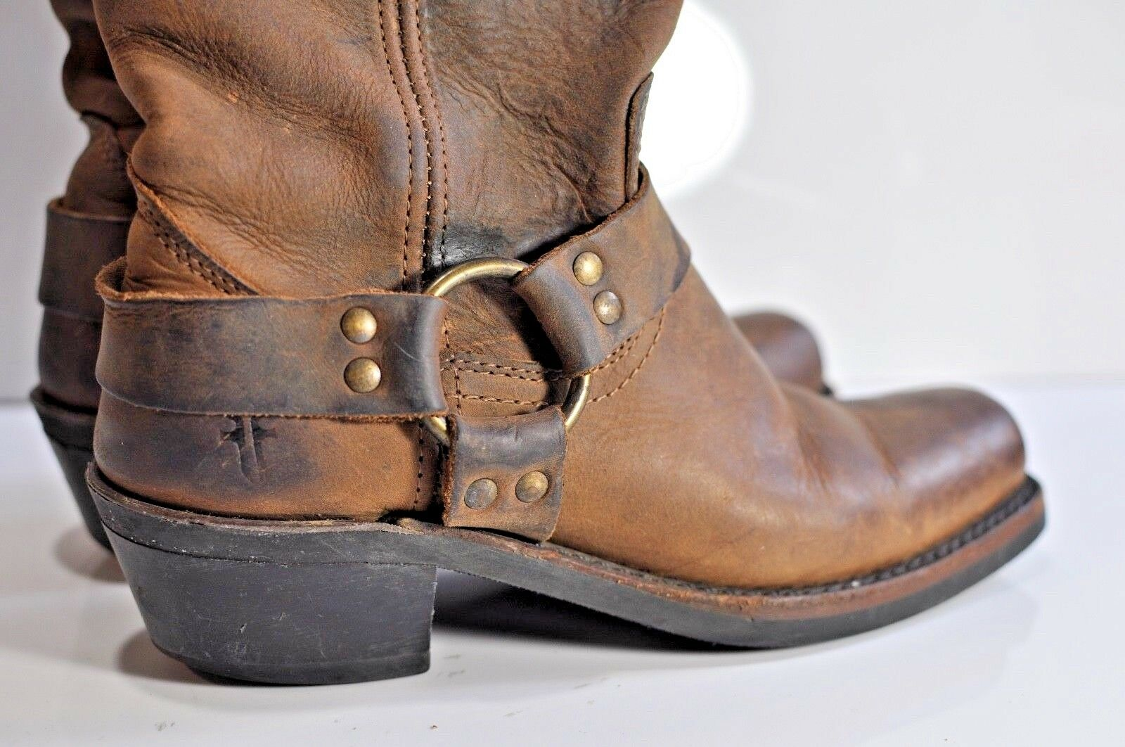 Frye Womens leather harness riding boots size 7.5 made in USA
