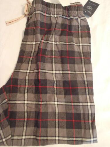 IZOD Mens M L or XL Cotton Sleep Plaid Pants Choice NWT