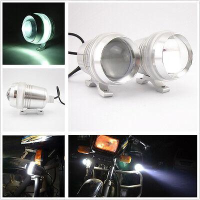 2 Pcs Cree U3 LED Motorcycle Driving Headlight Fog Spot Lamp With White Aperture