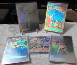 IMPEL 1991 Marvel Universe Series 2 Hologram Cards Set (5 pcs)