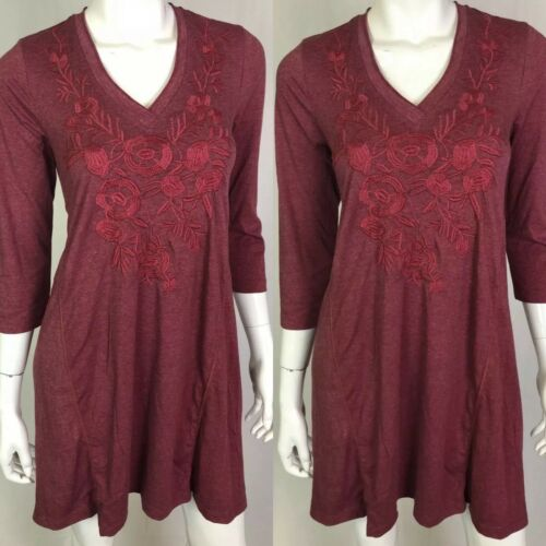 NWT $158 Heather Bordeaux Jersey Knit Caite Gaby Shift Dress Anthropologie