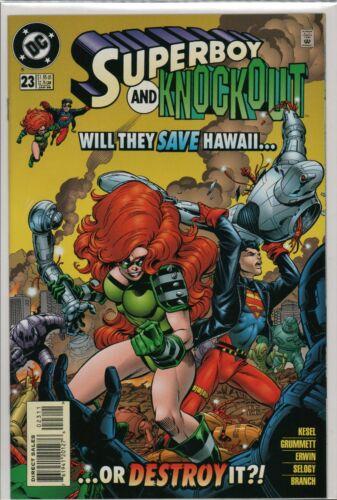 UNUSED  L2.104 DC Comics 1996 SUPERBOY  #23 NM