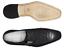 Men/'s Dress Shoe Belvedere Josh Ostrich Single Buckle Black 114011