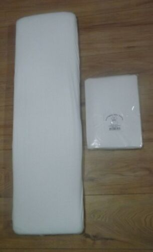 White 92 x 27 cm Premium Quality 100/% Cotton 2 x Amby Nest Fitted Sheets