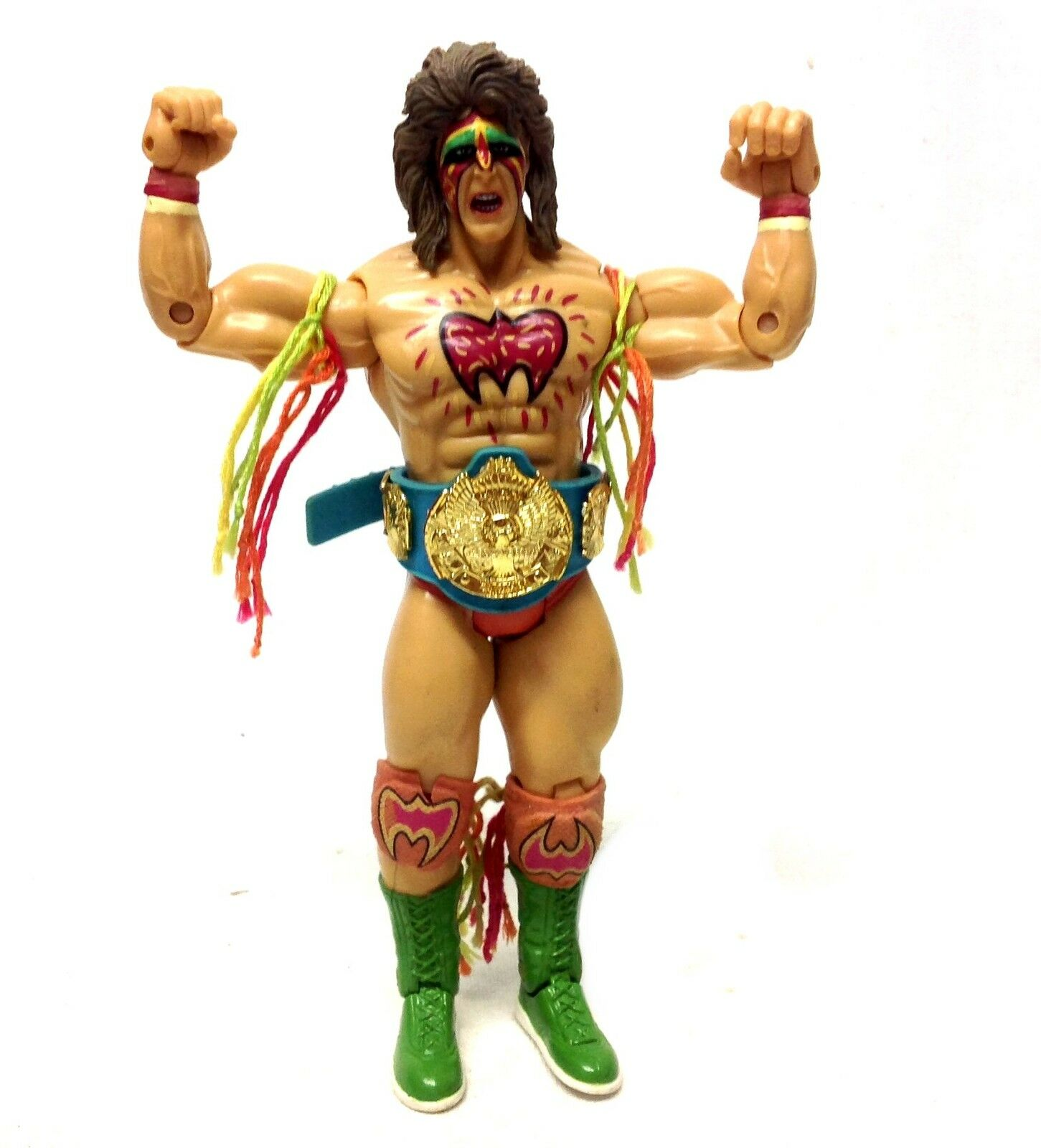 WWF WWE TNA Wrestling CLASSIC  ULIMATE WARRIOR figure with rare bluee Belt