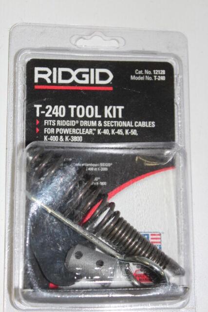 Drain Cleaning Snake Kits Tool Set Drum Machines With Ridgid K-3800 /& K-400 NEW