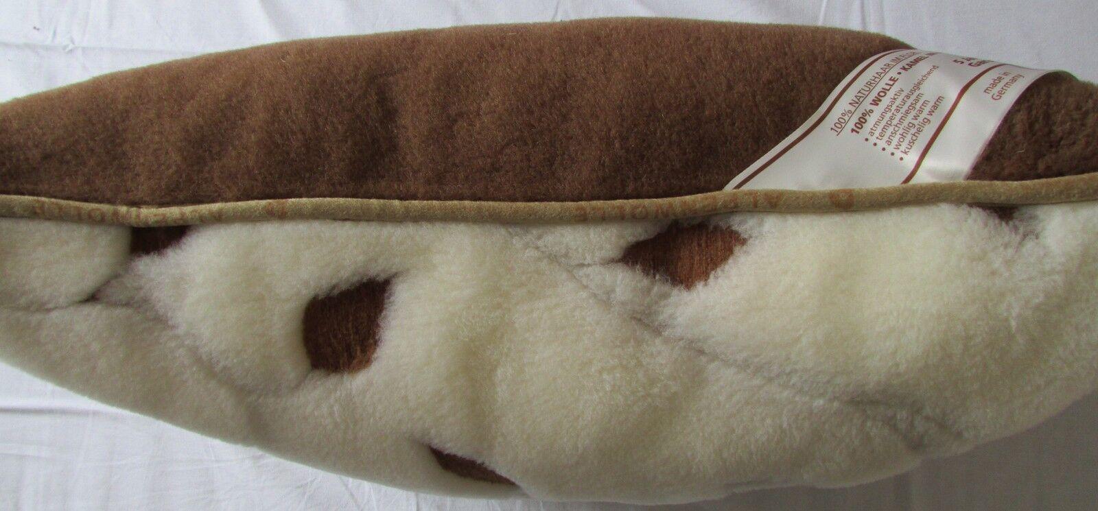 Kopfkissen  Lilii  Kamel Merino Wolle, 40x60cm, 100% Wolle, Made in Germany | Lass unsere Waren in die Welt gehen