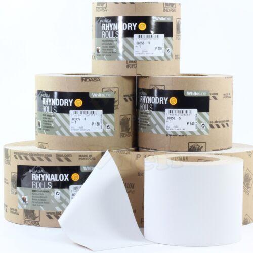 Indasa Schleifpapier Farben Lacke P320 115mm x25m Schleifrolle  Rolle Whiteline