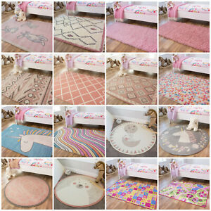 Pink Baby Play Mats Warm Nursery Rugs
