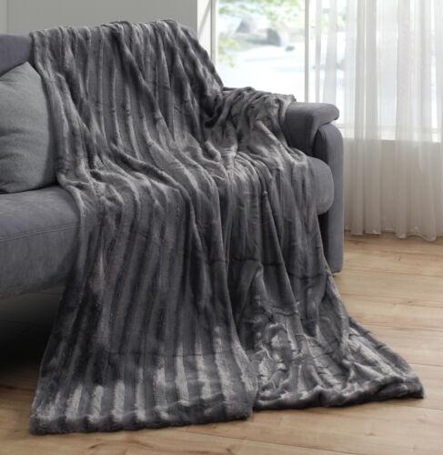 Noble double côté pelzimitat couverture vison couverture couverture plaid Felldecke