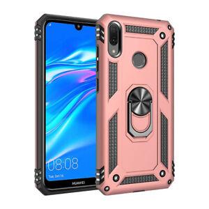 Pour-Huawei-Y5-Y6-Y7-Y9-militaire-2019-Armor-Case-magnetique-anneau-porte-Boitier-metal