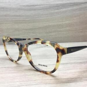 7736bf61b291 Miu Miu VMU 01N Eyeglasses Tortoise Black 7S0-1O1 Authentic 52mm