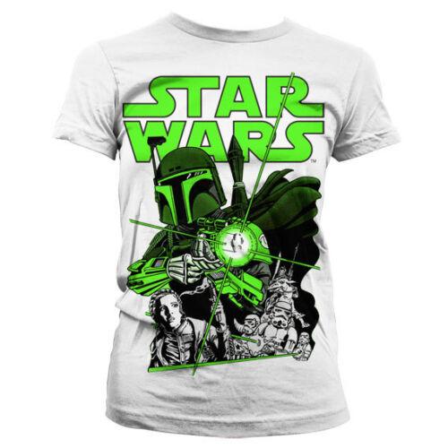 Licenza ufficiale Star Wars-VINTAGE Boba Fett Donne T-Shirt Taglie S-XXL
