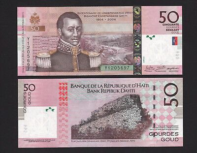 2016 Haiti 50 Gourdes P274 Banknote Unc Providing Amenities For The People; Making Life Easier For The Population