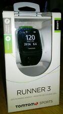 TomTom Runner 3 GPS Running Watch With Cardio - Black/Green