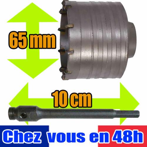Kit de Forage Béton,trepan scie cloche 65 mm,tige 10 cm,brique,186819 793793