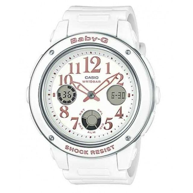 Casio Baby-G Womens Wrist Watch BGA150EF-7B  BGA-150EF-7B White Analog-Digital