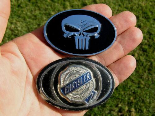 "PUNISHER 2 3//8/"" fits Chrysler Rear Replacement CAR EMBLEM Metal 62mm Badge"