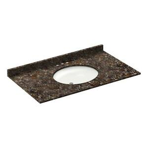 43-034-Vanity-top-with-sink-4-034-spread-Granite-Tan-Brown-by-LessCare-PICK-UP-ONLY