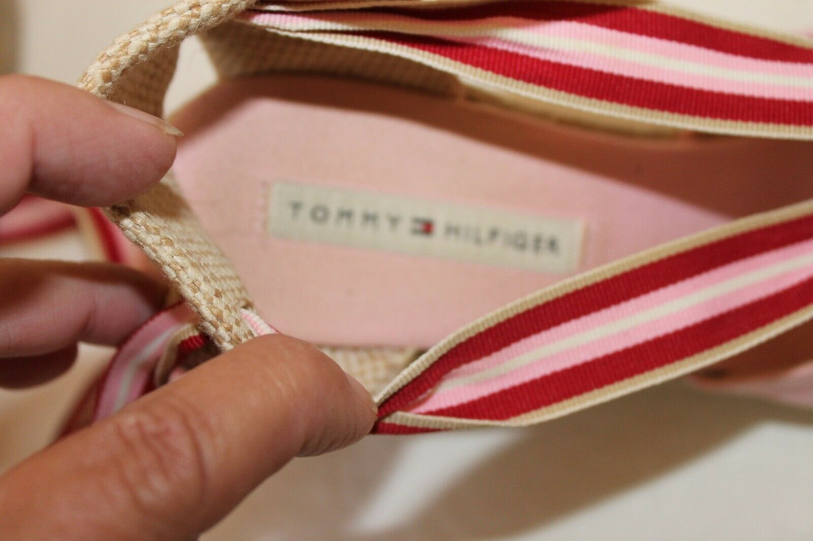 Tommy Hilfiger Womens 7M Pink Canvas Espadrille S… - image 6