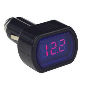 Auto-Car-Battery-Voltage-Meter-Voltmeter-Cigarette-Lighter-LED-12V-24V-New