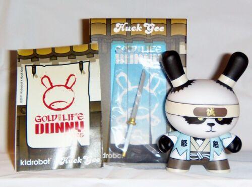 Kidrobot HUCK GEE Gold Life Dunny Ornery Panda Samurai Shinsengumi 2//16 KR Sword