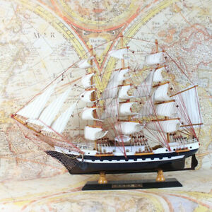 48cm-Wooden-Sailboat-Sail-Ship-Boat-Model-Building-Sailing-Display-Laser-cut