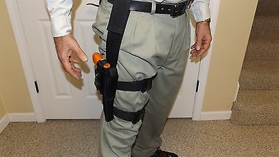 Tactical Drop Leg Holster /& Ammo Pouch 9mm .40 .45 Small Medium Frame Automatic