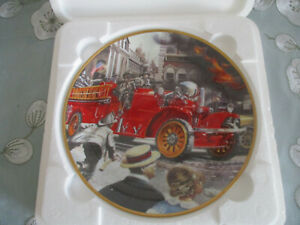 THE-1922-AHRENS-FOX-FIRE-ENGINE-FANKLIN-MINT-COLLECTOR-039-S-PLATE