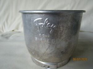 Vintage-Foley-5-Cup-Sifter-Aluminum-Manual-Squeeze-Handle-Flour-Sifter-WORKS