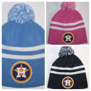 c3ef48896ff Houston Astros Pom Pom Beanie ~Knit Cap ~Classic MLB PATCH LOGO ...