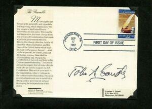 Autographié Enveloppe John A.Garraty Américain Historien Et Biographer