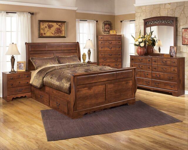 Ashley Furniture Timberline Queen Storage 7 Piece Sleigh Bedroom B258